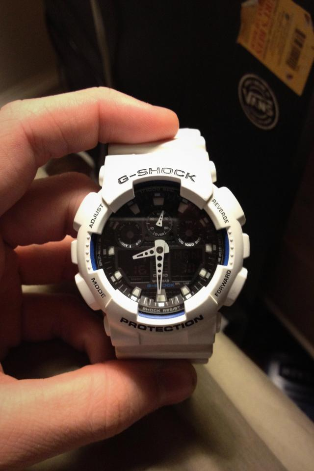 Casio G-Shock GA100 White Large Photo