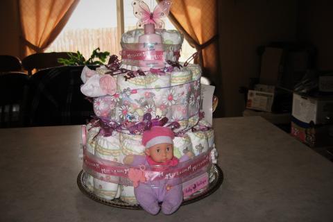 Baby Diaper Cakes Photo