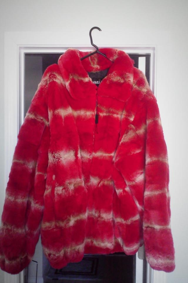 MICHAELA FUR RED DYED REX CHINCHILLA COAT, BOMBER JACKET Photo