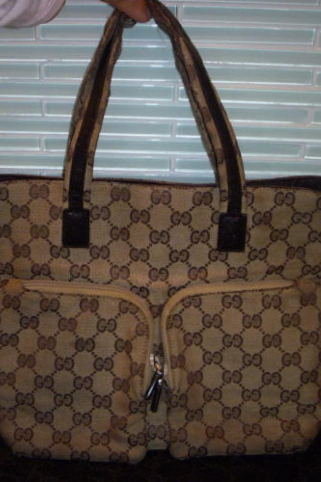 Authentic Gucci GG Signature Hand tote bag purse sold as is! OR Best Offer! Photo