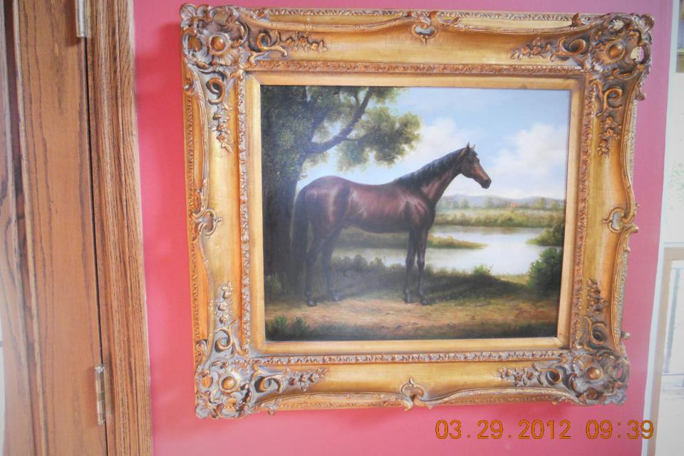 antique oil on canvas Large Photo