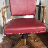 Red Vintage Desk Chair Photo