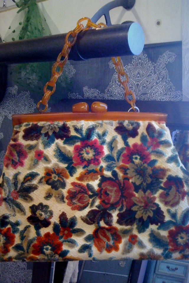 Vintage Heavy Brocade Purse Photo