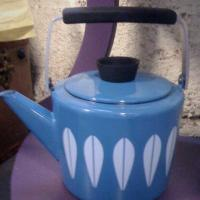Vintage Cathrineholm Blue Lotus Kettle Photo