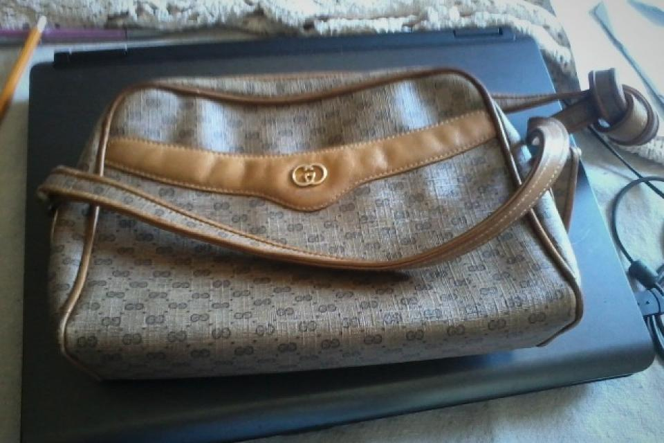  GUCCI HANDBAG (old, more than 25 years old) Large Photo
