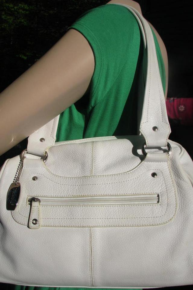 ♥♥♥Tignanello♥♥♥ White Leather Bag Very Trendy Summer Bag!!! Photo