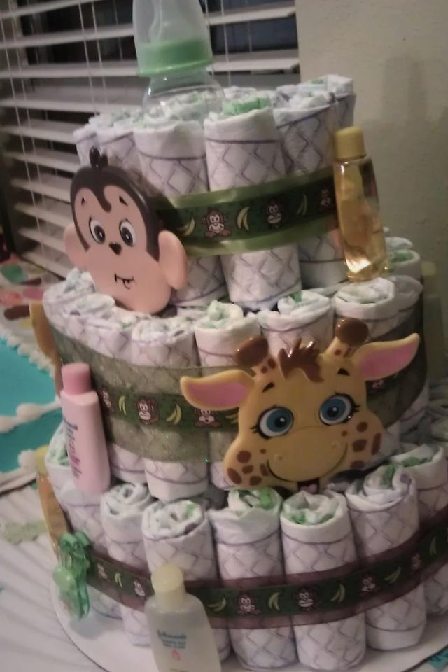 Jungle Diaper Cake Large Photo