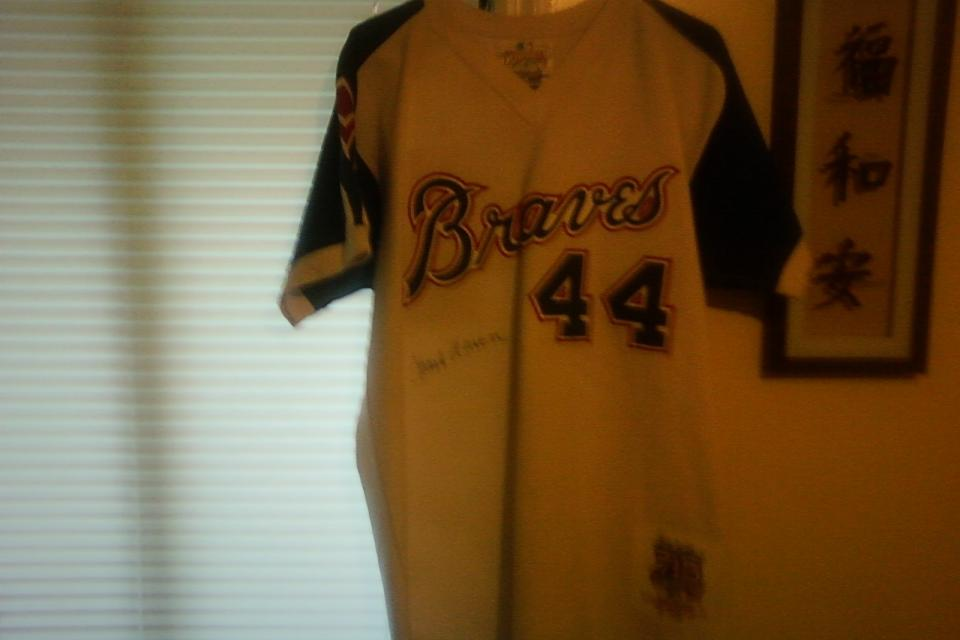 Mitchell & Ness Braves Throwback Jersey Large Photo
