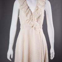 Cream Dotted Swiss Dress Photo
