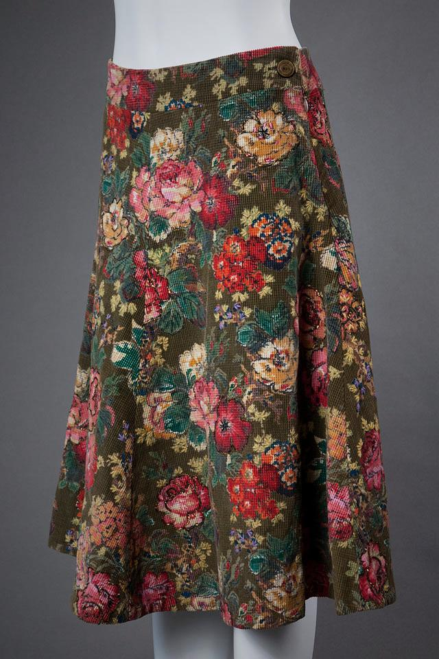 Megan Park Floral Corduroy Skirt Large Photo