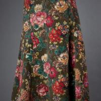Megan Park Floral Corduroy Skirt Photo