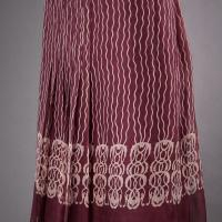 Alberta Ferretti Pleated Chiffon Skirt Photo