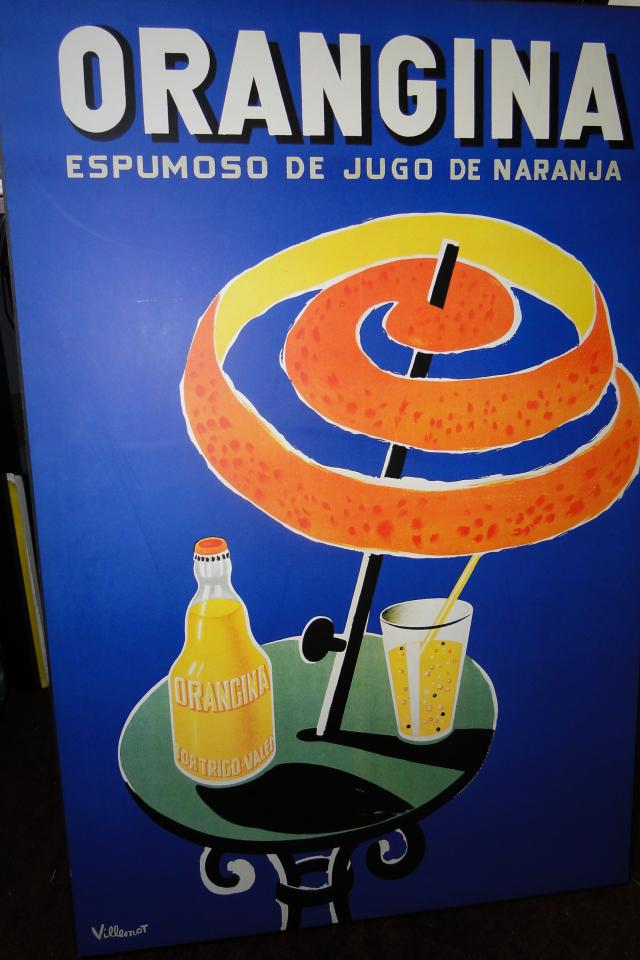 Vintage Villemot Orangina wall hanging Large Photo