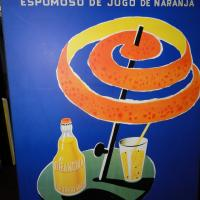 Vintage Villemot Orangina wall hanging Photo