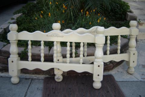 Charming Vintage Youth Bed Headboard & Footboard Photo