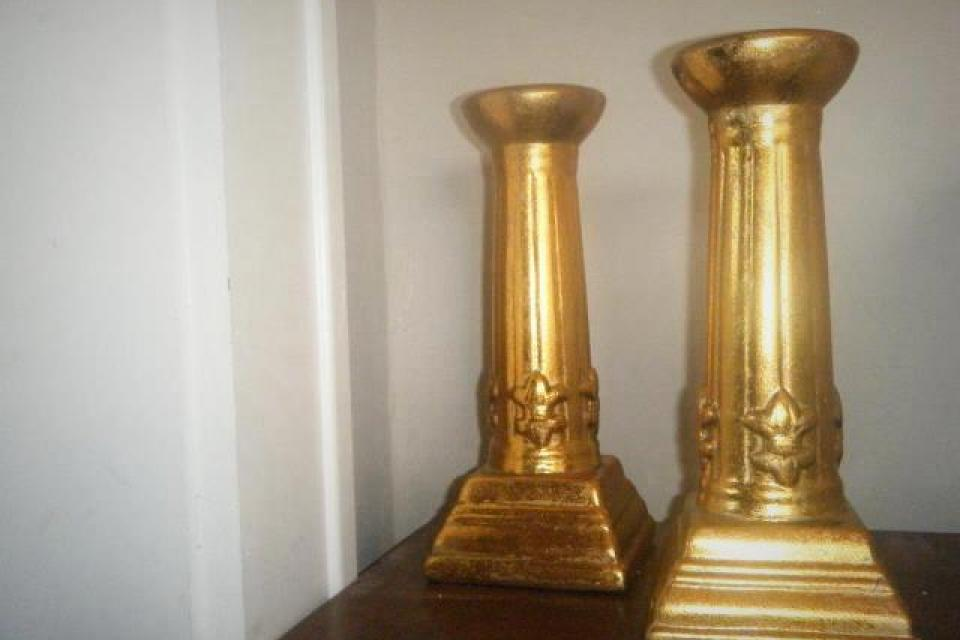 Gold Candle Holders Large Photo