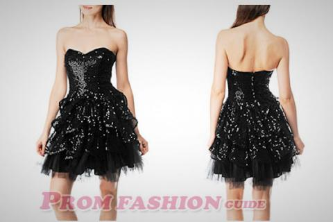 Betsey Johnson - Black Sequin Tulle Dress Photo
