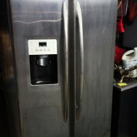 GE Profile Stainless Steel Fridge Photo
