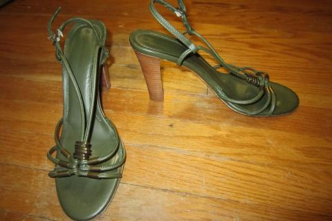 Banana Republic Leather Sandal Heels Photo