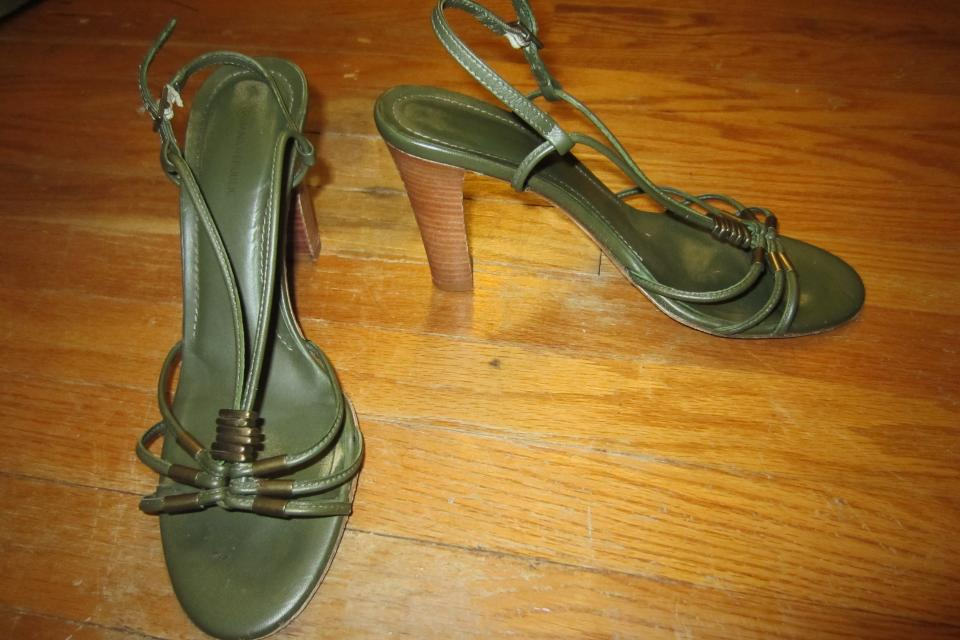 Banana Republic Leather Sandal Heels Large Photo