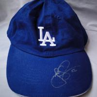 Autographed Dodger Cap Photo