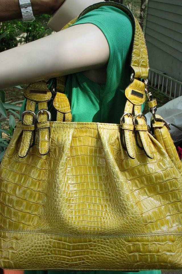 ♥♥Jessica Simpson♥♥ Large Shopper Mustard Color, Excellent Cond, Trendy! Large Photo