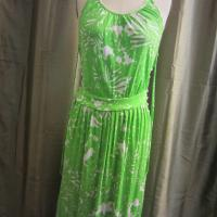 Vintage 70's Green and White Dress Photo