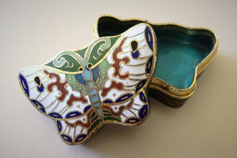 vintage butterfly jewelry box Photo