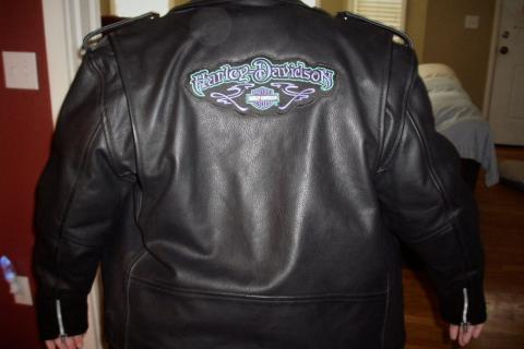 LEATHER JACKET - HARLEY DAVIDSON EMBLEM Photo