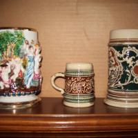 3 antique Beer Steins Photo