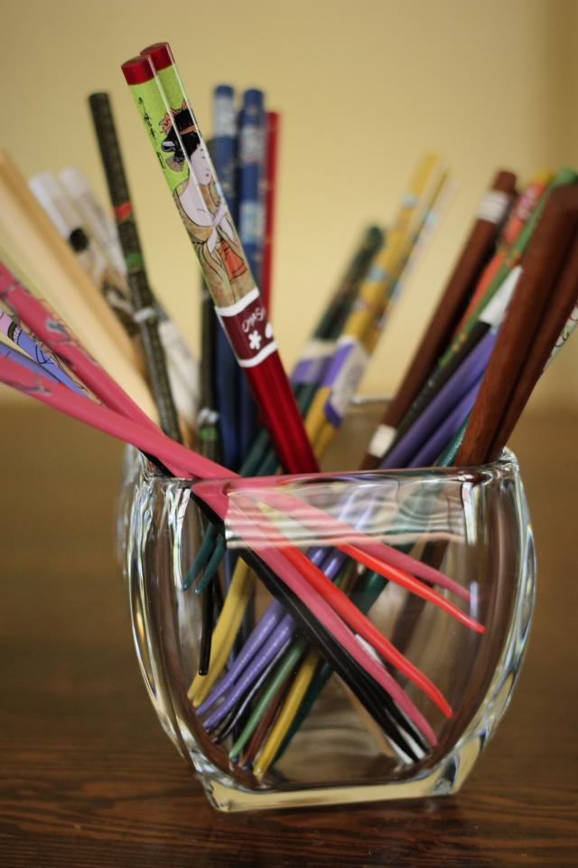 Quirky Chopsticks Photo