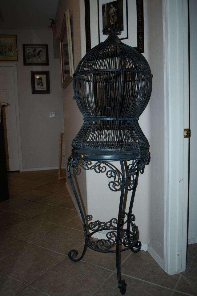 Wrought Iron Bird Cage  Large Photo
