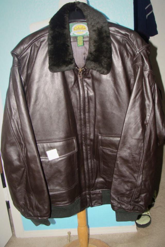 Leather Bomber Jacket from Cabelas's  Sz XL New Large Photo