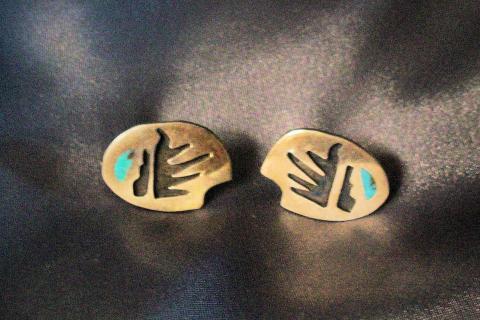 Silver Bear Claw Earrings Photo