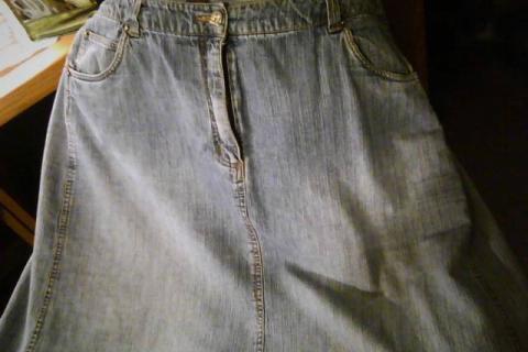 Plus Size Jean Skirt Photo