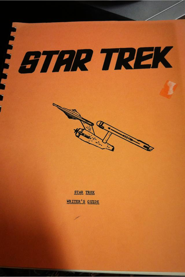 1967 Original Star Trek Writer's Guide Photo