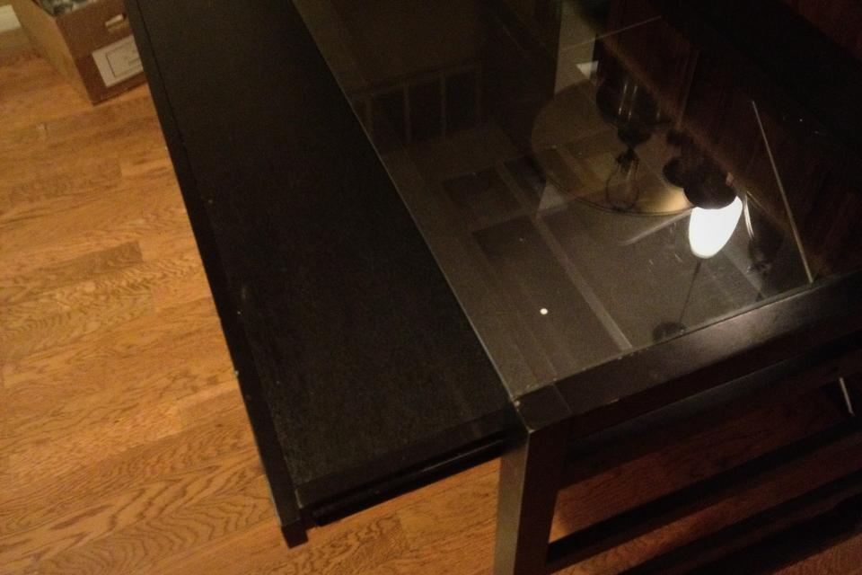 Black Desk from Crate and Barrel Large Photo
