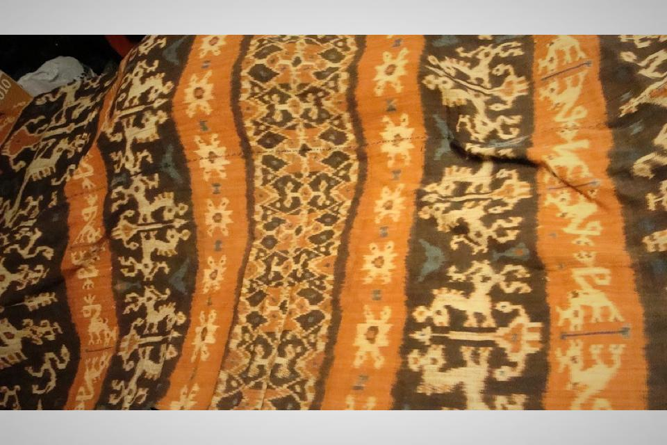 19th Century Indonesian Ikat Covering Large Photo