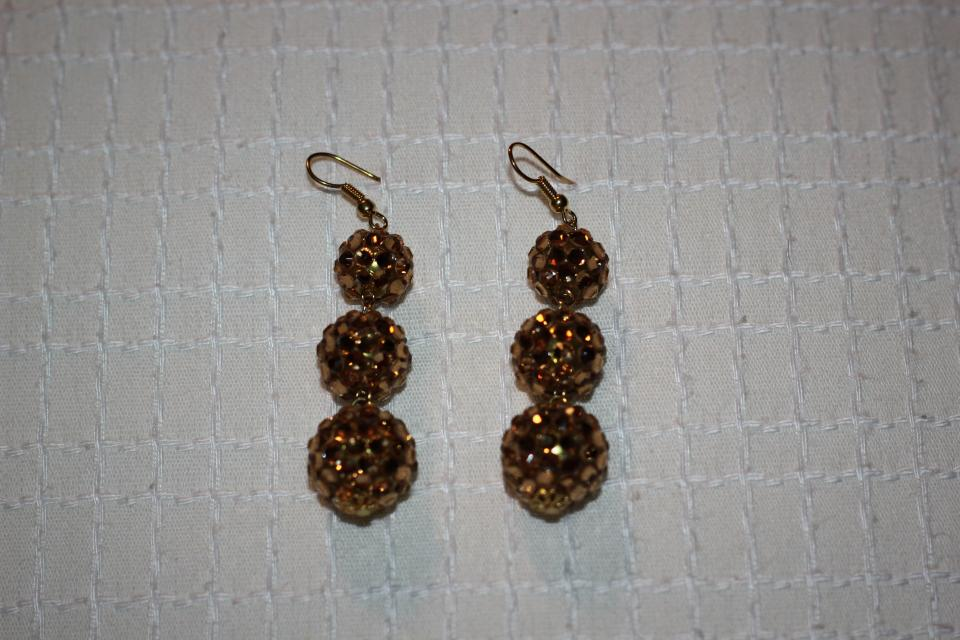 Pave Crystal Drop Earrings Large Photo
