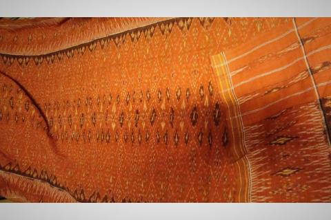 19th Century Indonesian Woven Ikat Cloth Photo