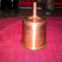 Vintage Copper Oil Lantern Filtering Funnel; Lamp Light Coleman Stove Filler Photo