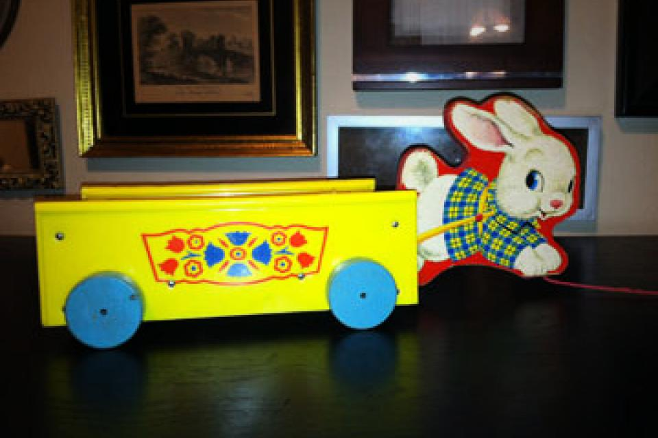 1959 Vintage Bonny Bunny Wagon Large Photo