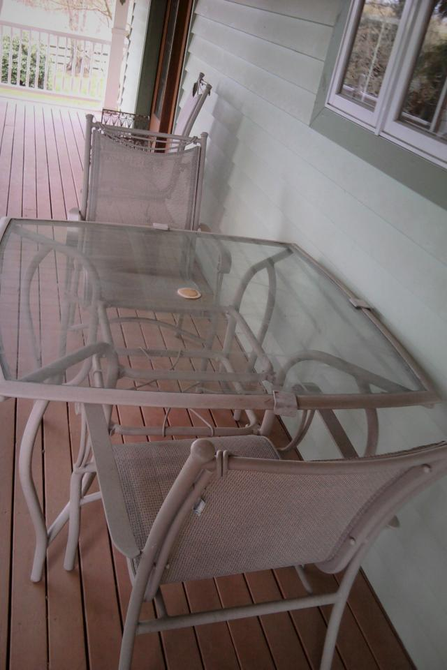 Glass Table & 2 Chairs Large Photo
