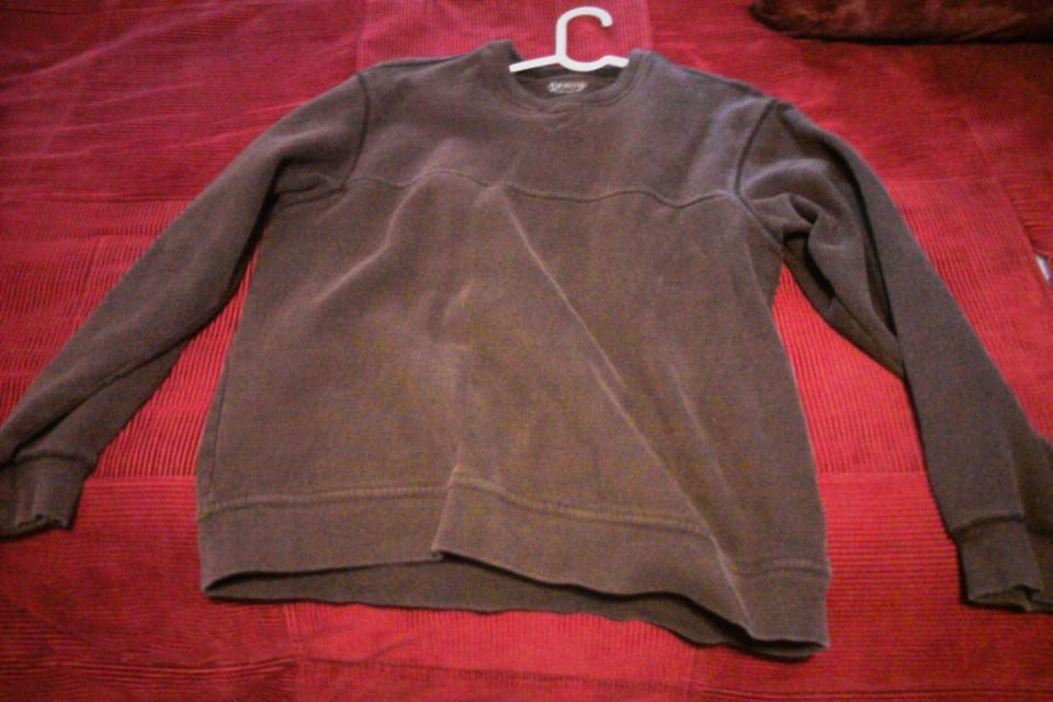 Men's L 82% Polyester Arrow brown sweatshirt Large Photo