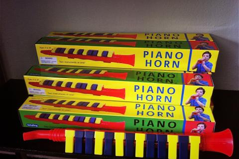 Piano Horn Photo