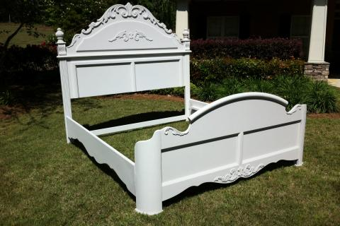 Restored French Country Style, King Size Bed Photo