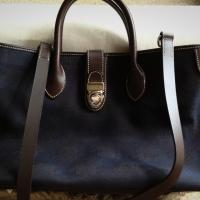 Dark Blue Dooney Burke Bag Photo