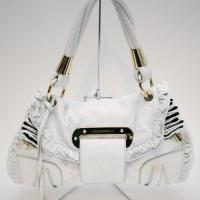 Dolce &amp; Gabbana White Leather &amp; Crochet Hobo Photo