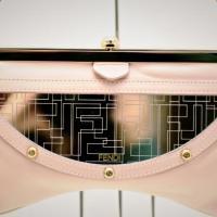 Fendi Pink Leather & Monogram Mirror Shoulder Bag Photo