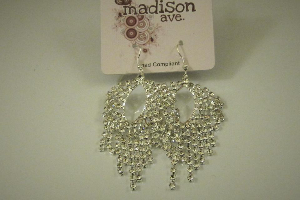 FASHION RHINESTONE EARRINGS Large Photo